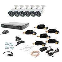Комплект видеонаблюдения Tecsar 6OUT-3M LIGHT (9575)
