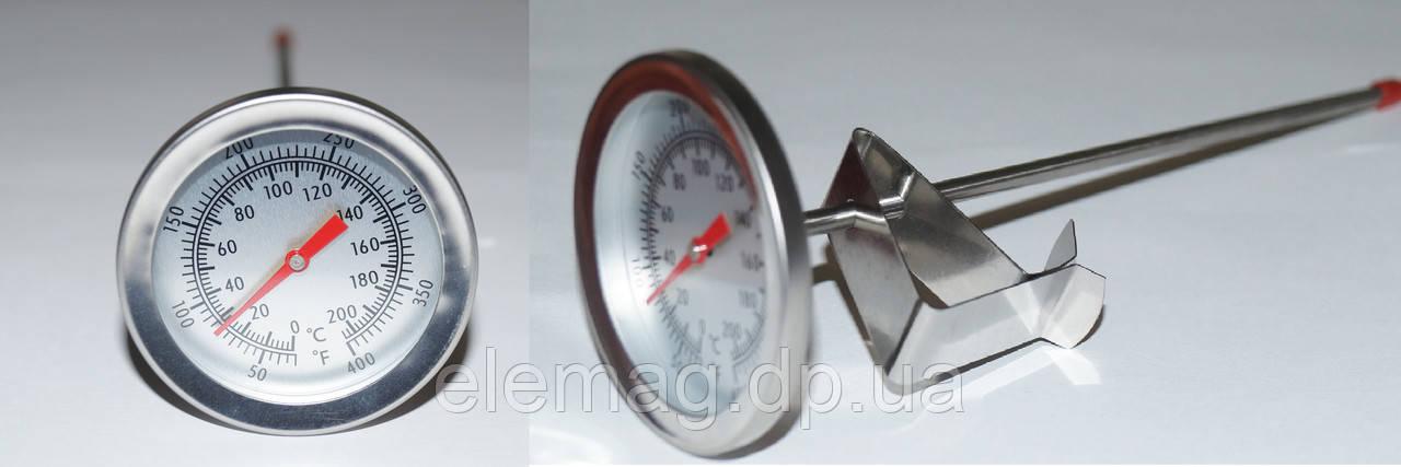 Термометр универсальный для мяса, для молока с прищепкой ТП-03