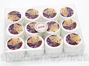 Цветные гели Ezflow 12 цветов, с мелким блестком