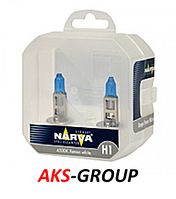 Комплект автоламп Narva H1 12 V 55W P14.5s RANGE POWER WHITE  TWIN SET 48641, фото 1
