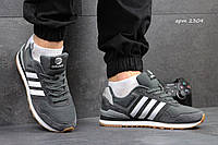 Мужские кроссовки ADIDAS NEO, плотная сетка + замша, серые / кроссовки мужские АДИДАС НЕО, модные