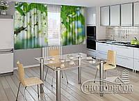 """ФотоШторы для кухни """"Весенние цветы"""" 1,5м*2,0м (2 половинки по 1,0м), тесьма"""