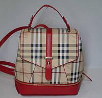 Рюкзак/сумка в стиле Барбери красный