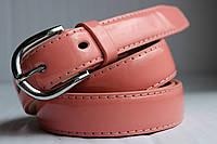Женский розовый лаковый ремень