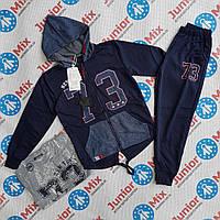 Оптом подростковый спортивный костюм для мальчика тройка на манжете  GRACE