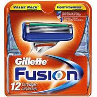 Картриджи Gillette Fusion Оригинал 12 шт в упаковке производство Германия
