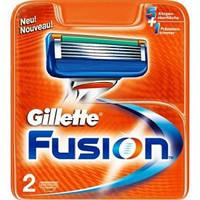 Картриджи Gillette Fusion Оригинал 2 шт в упаковке производство Германия
