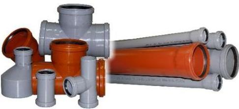 Фото канализационный трубы и фитинги в Украине