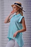 Удлиненная блуза рубашка женская
