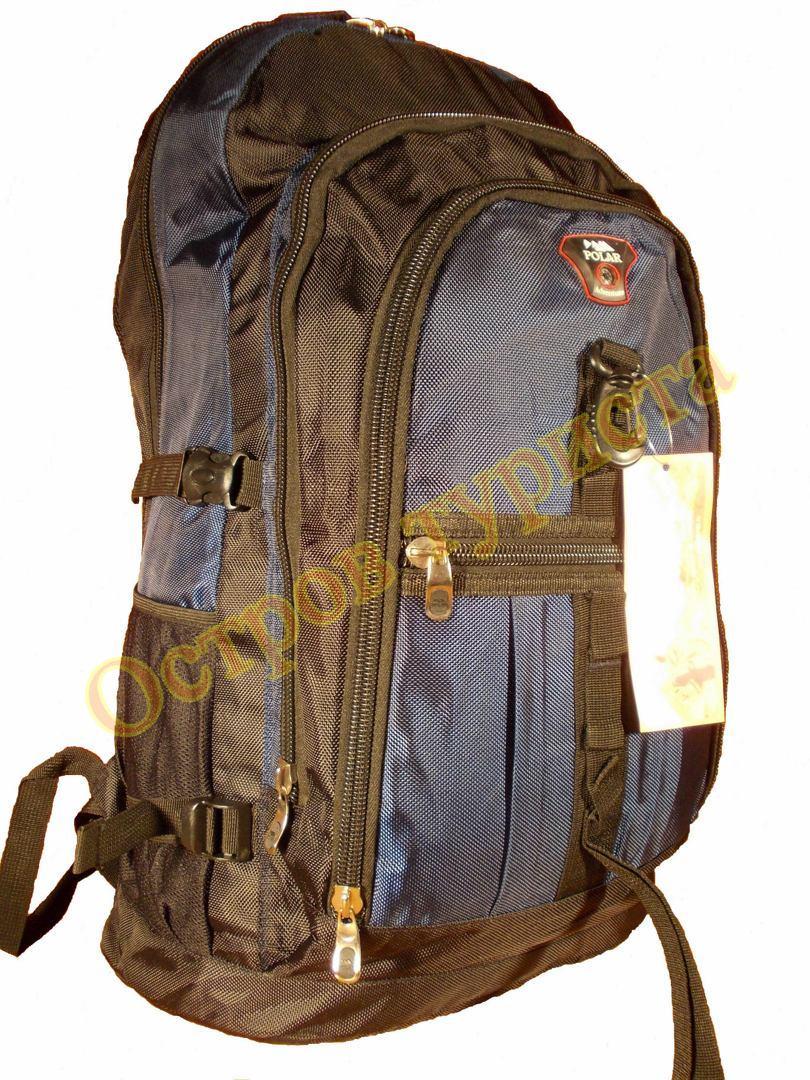 Рюкзак туристический городской POLAR Adventure GM004 темно-синий