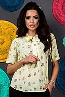 Оригинальная желтая блуза для женщин