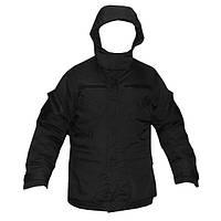 Куртка с подстежкой тактическая чёрная