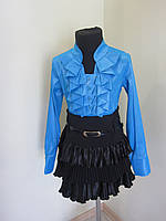 Блузка детская  289 стрейч бирюза, фото 1