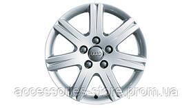 Легкосплавные диски R18, дизайн « c 7 спицами Abitos», цвет cеребристо-бриллиантовый