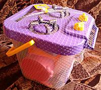 """Набор посуды столовый """"Ромашка"""", плитка, 25 эл., в ведре 23*25см, ТМ Wader (8шт)"""