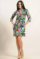Сукня вільного крою, трикотаж Modal розкльошені рукав 3/4 42-52 розмір, фото 1