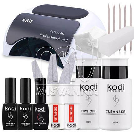"""Стартовый набор """"Kodi Professional"""" с LED+CCFL лампа  на 48  для покрытия гель лаком , фото 2"""