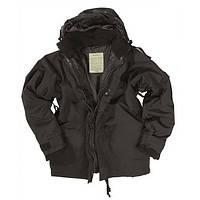 Куртка - мембрана с подстежкой чёрная Mil-Tec