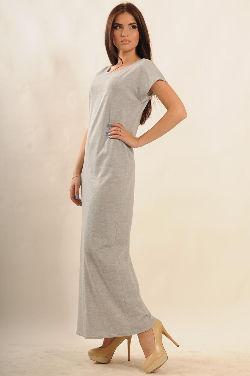 24ad329d187 Длинное летнее платье макси-длины из двунитки 42-52 размеры - 💎TM