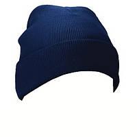 Вязаная шапка польской полиции синяя