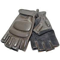 Тактические перчатки олива кожаные
