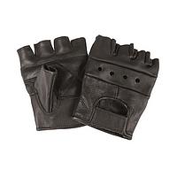 Байкерские перчатки кожаные
