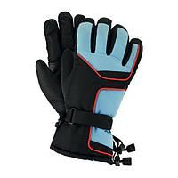 Перчатки лыжные флисовые профессиональные голубые Польша