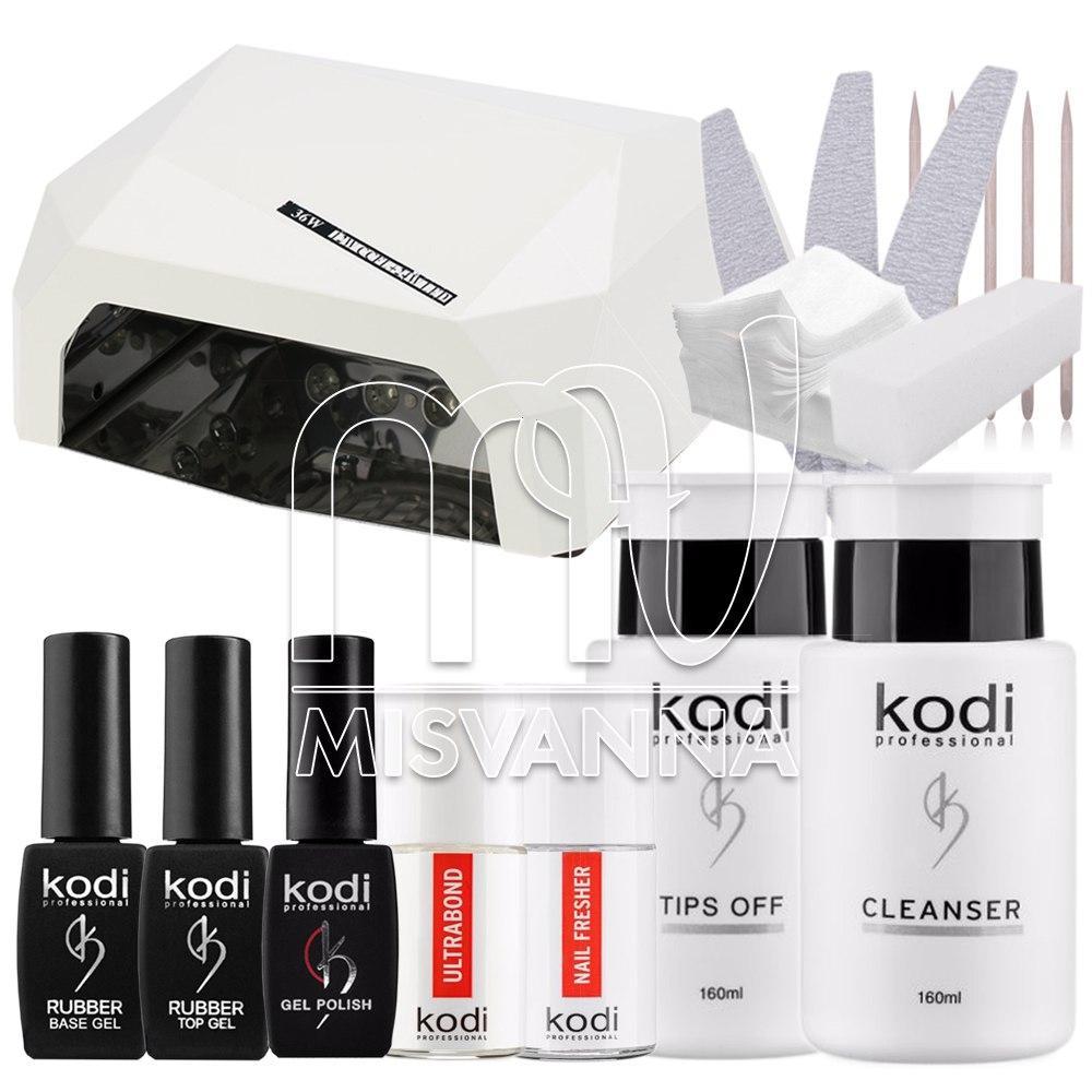 """Стартовый набор """"Kodi Professional"""" с LED+CCFL лампа  на 36 для покрытия гель лаком"""