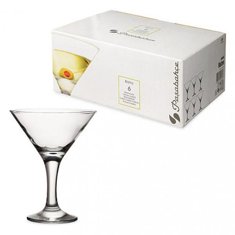 """Набор бокалов для мартини Pasabahce Bistro 190мл 6шт. - интернет-магазин """"Деко"""" в Одессе"""