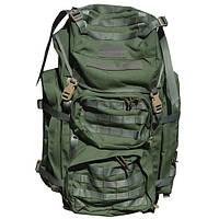 Тактический походный рюкзак олива с MOLLE 80 л.