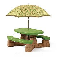 Столик для пикника с зонтиком - Step 2 - США - можно разместить 6 детей