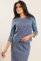 Изысканная гипюровая блуза рукав три четверти 42-52 размера, фото 1