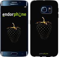 "Чехол на Samsung Galaxy S6 Edge G925F Черная клубника ""3585c-83"""