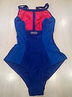 Спортивный купальник женский Self Collection синий.