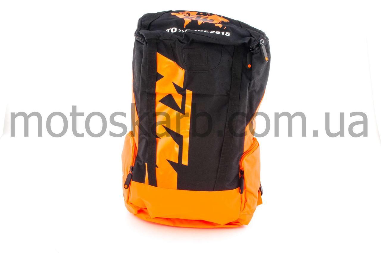 """Рюкзак  (черно-оранжевый)   """"KTM"""""""