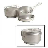Набор туристической посуды (3 прибора) алюминиевый Mil-Tec