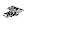 Петля мебельная // Italiana Ferramenta / для ЛДСП / внешняя / без доводчика (Slide on) / стандартная планка / +100+110 ° / 0 ° / хром