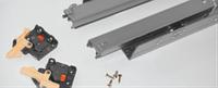 Механизмы выдвижения // Linken System / скрытого монтажа / с доводчиком (soft close) / полный / L = 450 мм / H =40 мм / нагрузка 35 кг / сталь