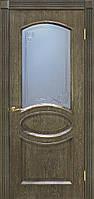Полотно дверное шпонированое ТМ ОМИС Лаура  дуб Шервуд, массив сосновых пород, шпон дуба, Со стеклом, 700