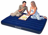 Полуторный надувной велюровый матрас Intex 68758 (191*137*22 см)