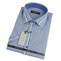 Рубашка мужская в клетку и полоску Betibo 0350 H Slim
