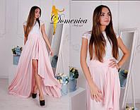 Свободное двухцветное платье в пол w-t31032728