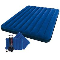 Двухместный надувной велюровый матрас Intex 68765 (203*152*22 см)