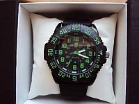Часы мужские luminox зелено-черные (реплика)