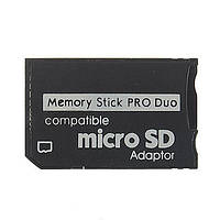 Переходник для карт памяти c microSD на MS pro Duo (1-карточный)