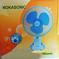 Настольный вентилятор прищепка Nokasonic 160, фото 1