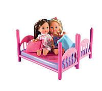 Двуспальная кровать Евы Эви и 2 куклы Simba 5733847