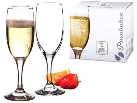 Набор бокалов для шампанского Pasabahce Bistro 190мл 6шт.