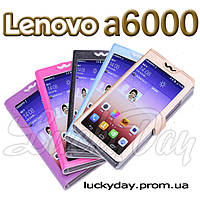 Книжка чехол для Lenovo a6000 a6010 с панорамным окном