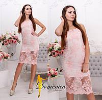 Нарядное легкое платье из кружева в расцветках g-t31032741